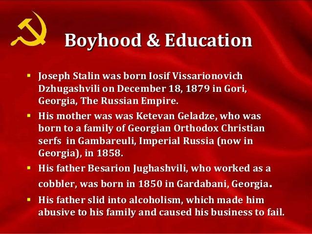 Boyhood & Education cont. Ioseb aged 15 (left) and 23 (right)