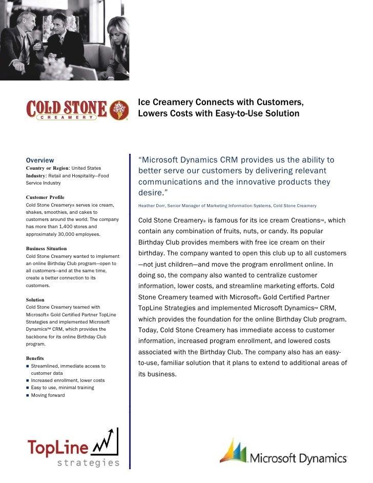 Cold Stone Creamery Case Study