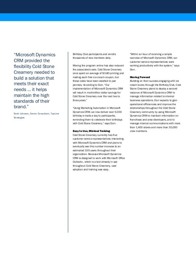 Microsoft dynamics crm online case studies