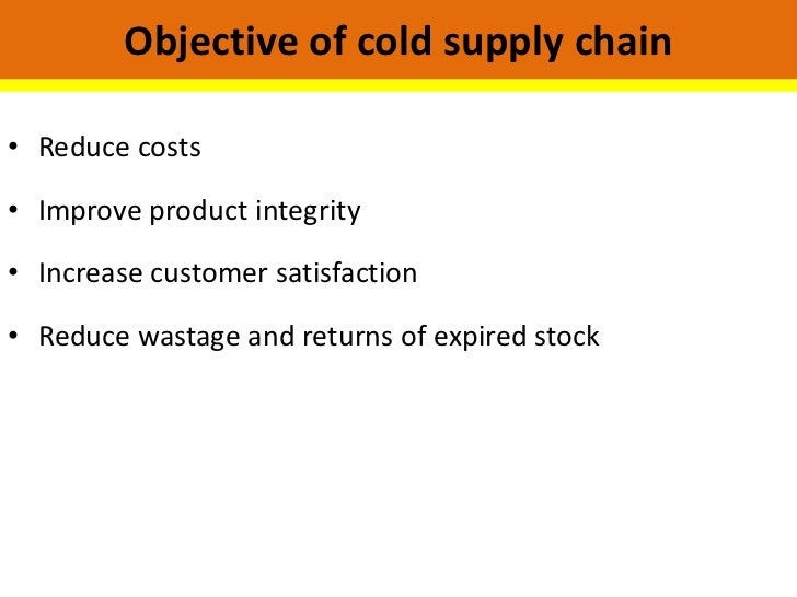 cold chain management the secret ingredient Managing a cold storage warehouse successfully is a balance between maintaining the right temperature and maintaining throughput  says cbre optimizing value with a win-win supply chain six steps to optimized order fulfillment  goya foods' secret ingredient: lift trucks.