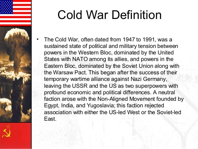 "the dominance of antagonism during the course of the cold war Crash course us history #37: ""the cold war"" (transcript) john : hi, i'm john green this is crash course us history, and today we're going to talk about the cold war."