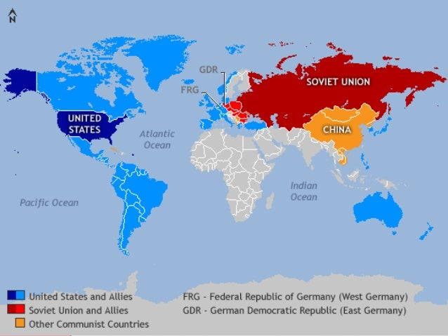 Cold War In A Global Context - Map of us intervention global cold war