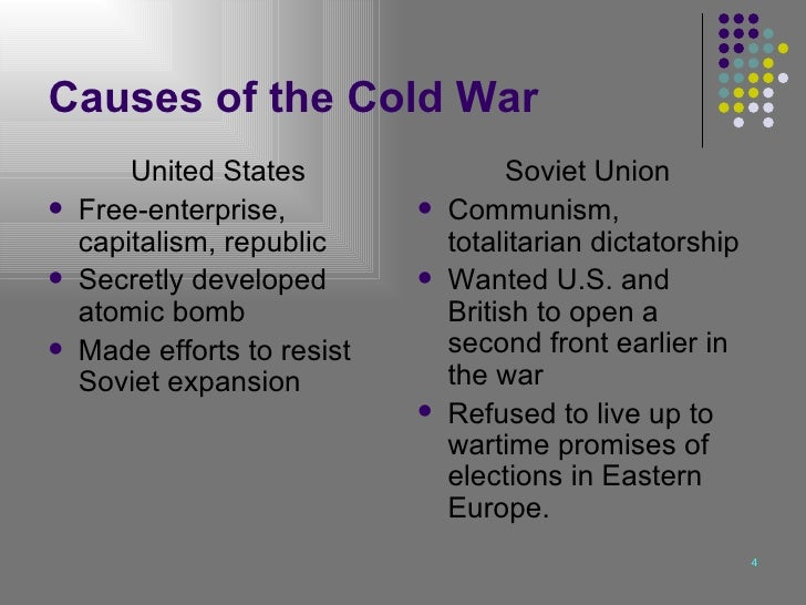 Essay cold war causes