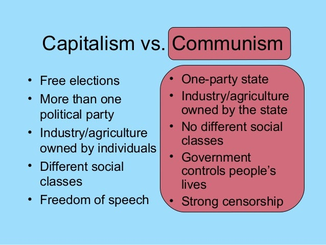 Capitalism, Socialism or Communism