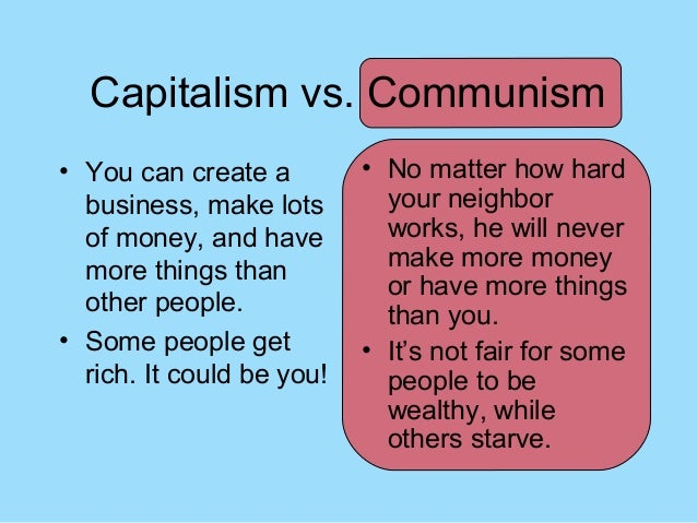 communism vs socialism vs capitalism Difference between communism, socialism and capitalism the economy is important in every country in order for a country to survive and thrive there are different economic systems throughout the world and the most notable of them include communism, socialism and capitalism.