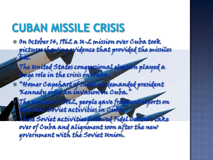The Cuban Missile Crisis, October 1962