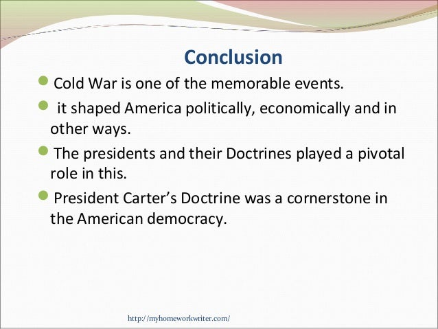 the cold war essay conclusion Free essay on the cold war research paper available totally free at echeatcom, the largest free essay community.
