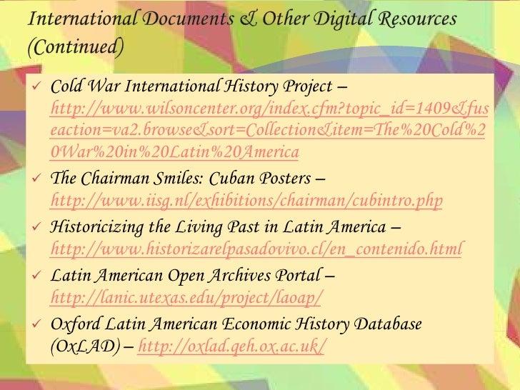 Cold war cuba and latin america essay
