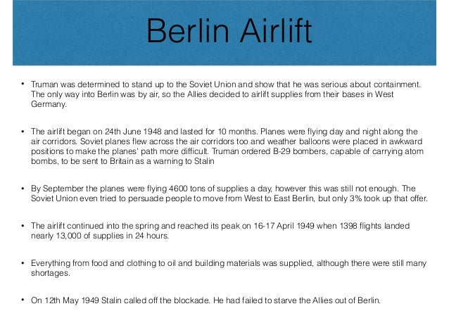 Berlin airlift essay