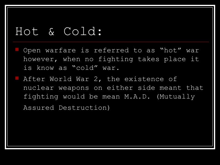was the cold war inevitable after world war ii The cold war is the name given to the relationship that developed primarily between the usa and the ussr after world war two the cold war was to.