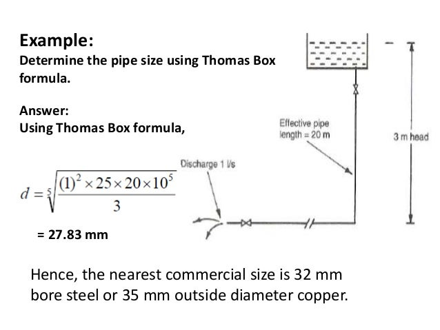 Where;; 57. Ex≤ Determine the pipe size ...  sc 1 st  SlideShare & Cold water supply and pipe sizing