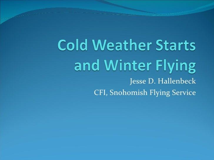 Jesse D. Hallenbeck CFI, Snohomish Flying Service