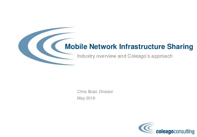 Mobile Network Infrastructure Sharing Industry overview and Coleago's approach Chris Buist, Director May 2016
