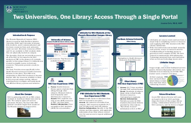LibGuide for NAU Students at the Phoenix Biomedical Campus Library Two Universities, One Library: Access Through a Single ...