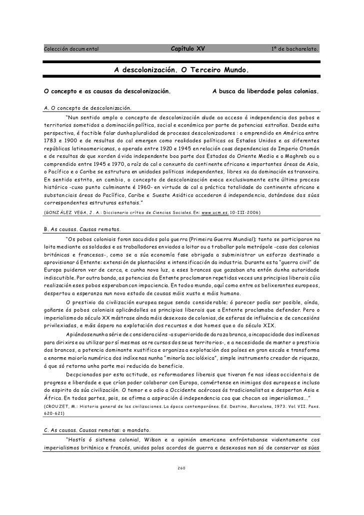Colecci ón docum ental                                   Capítulo XV                                  1º de bacharelato.  ...