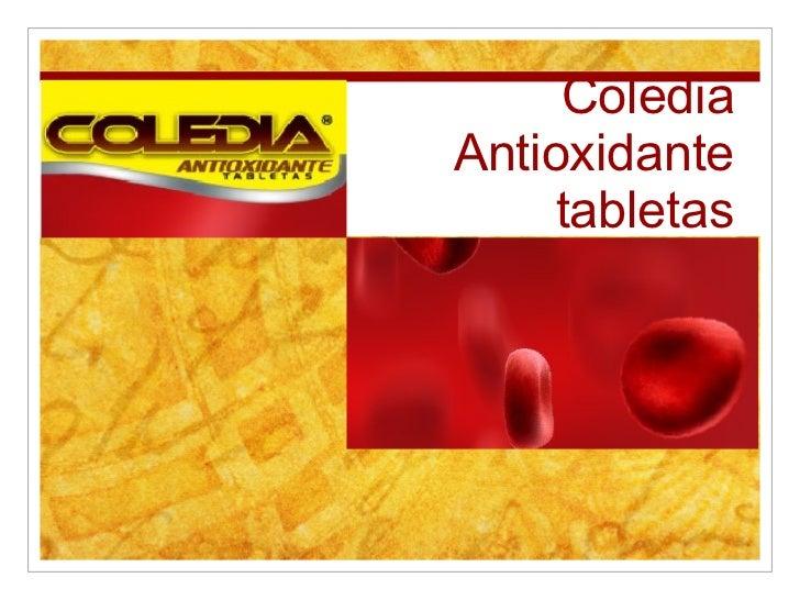 Coledia Antioxidante tabletas