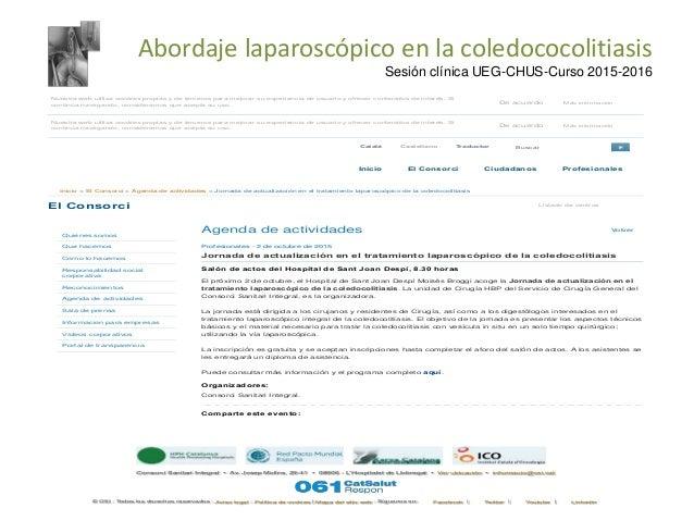 Abordaje laparoscópico en la Coledocolitiasis  Slide 3