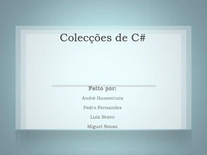 Colecções de C#