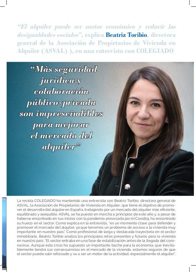 """15 ENTREVISTA """"Más seguridad jurídica y colaboración público-privada son imprescindibles para mejorar el mercado del alqui..."""