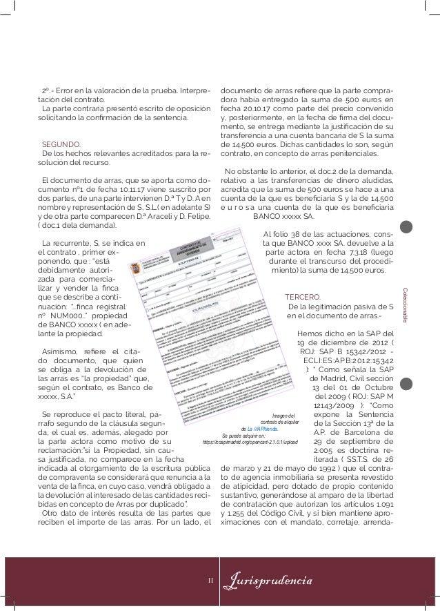 Coleccionable JurisprudenciaII 2º.- Error en la valoración de la prueba. Interpre- tación del contrato. La parte contraria...