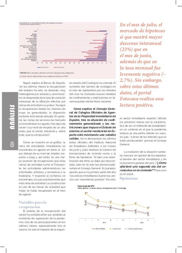 """8 ANÁLISIS Según explica el Banco de España, """"en los últimos meses la recuperación del empleo ha sido, no obstante, muy he..."""