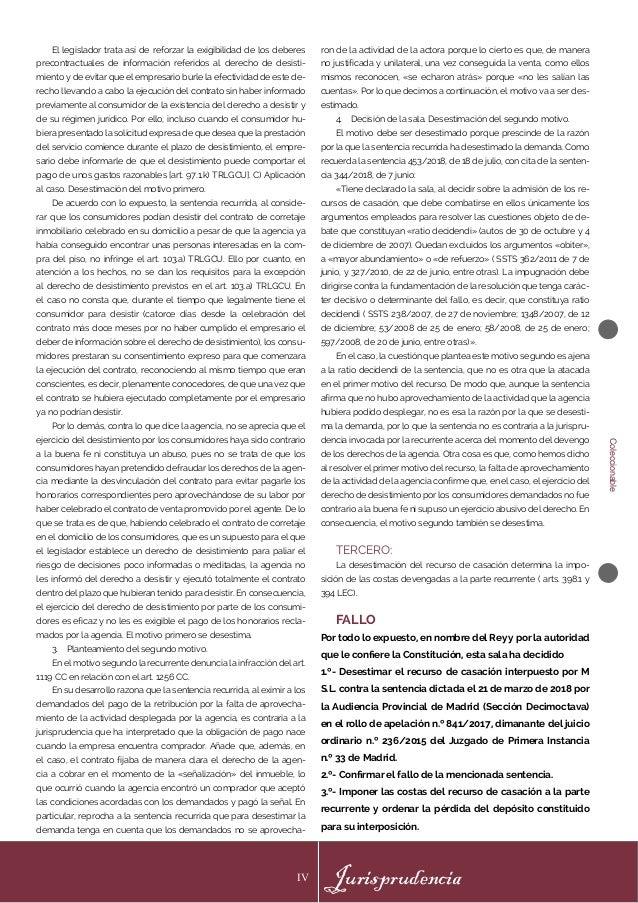 Jurisprudencia IV Coleccionable El legislador trata así de reforzar la exigibilidad de los deberes precontractuales de inf...