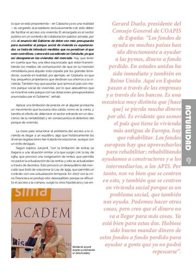 9 ACTUALIDAD Montserrat Junyent durante su intervención en Sima Academy lo que se está proponiendo – en Cataluña ya es una...