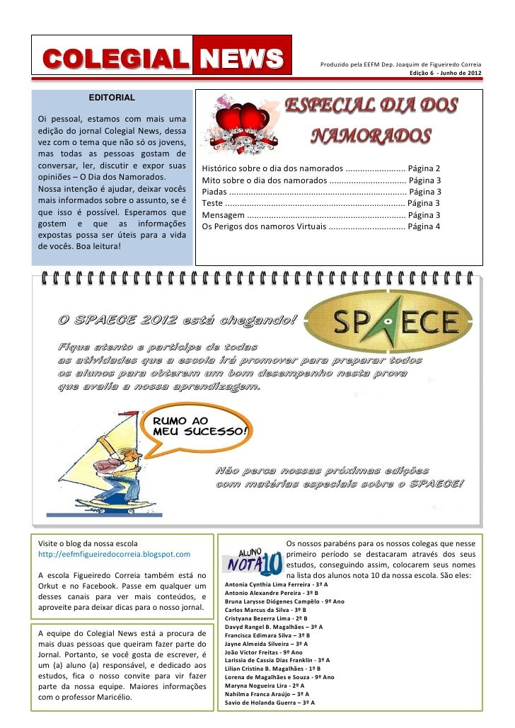 COLEGIAL NEWS                                                                            Produzido pela EEFM Dep. Joaquim ...