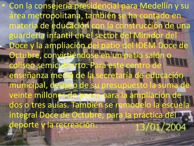 • El colegio Vida Y Paz y sus tres establecimientos educativos, Progresar,Rodrigo Arenas Betancur y Jesús María Valle Jara...