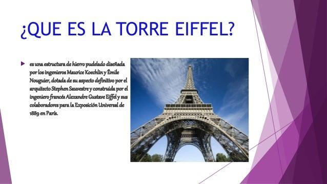 La torre eiffel for Quien hizo la torre eiffel