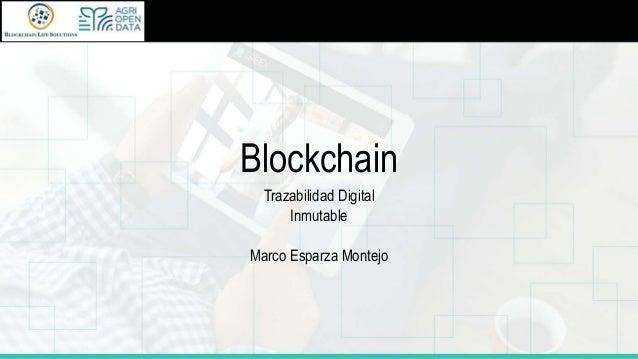 Blockchain Trazabilidad Digital Inmutable Marco Esparza Montejo