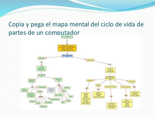 Crea el mapa mental en base a la información documental del cuadro