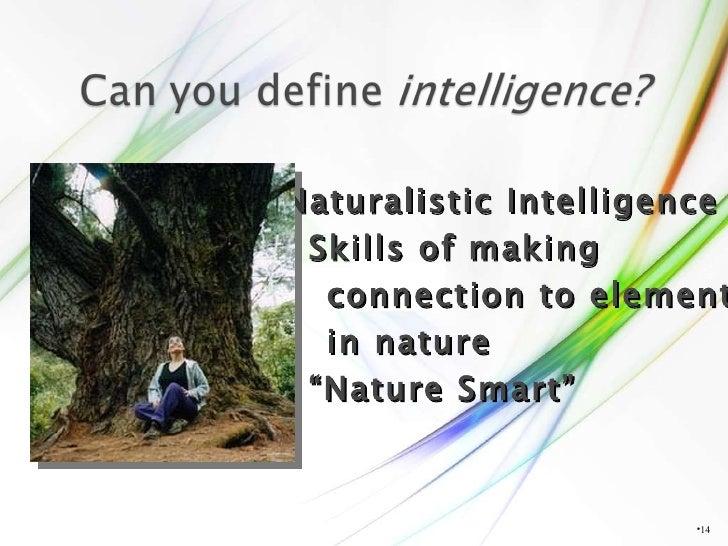 <ul><li></li></ul><ul><li>Naturalistic Intelligence </li></ul><ul><li>Skills of making  </li></ul><ul><li>connection to el...