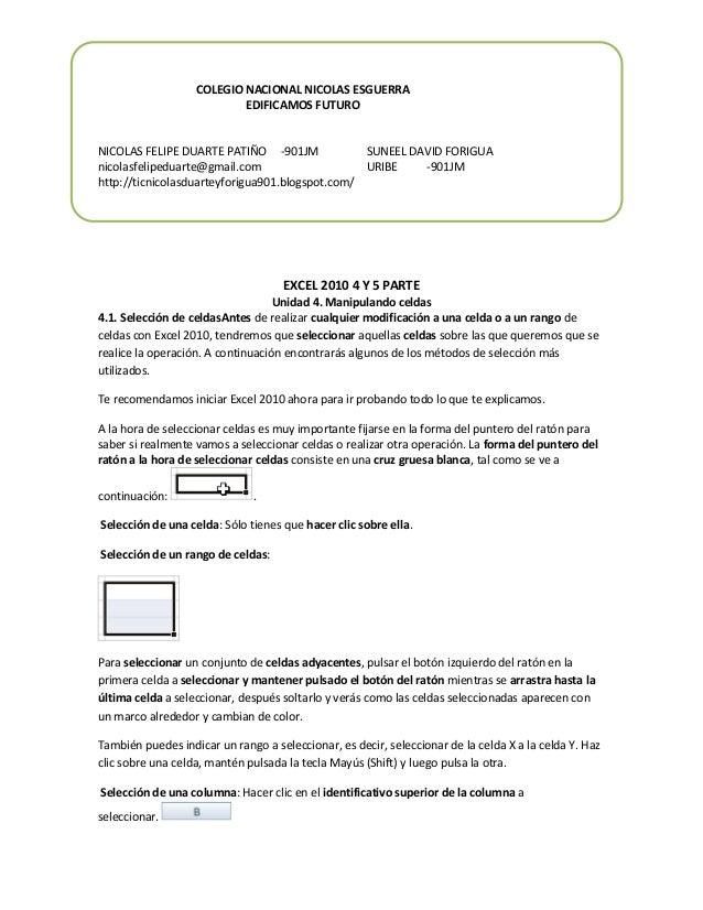 COLEGIO NACIONAL NICOLAS ESGUERRA EDIFICAMOS FUTURO  NICOLAS FELIPE DUARTE PATIÑO -901JM SUNEEL DAVID FORIGUA nicolasfelip...