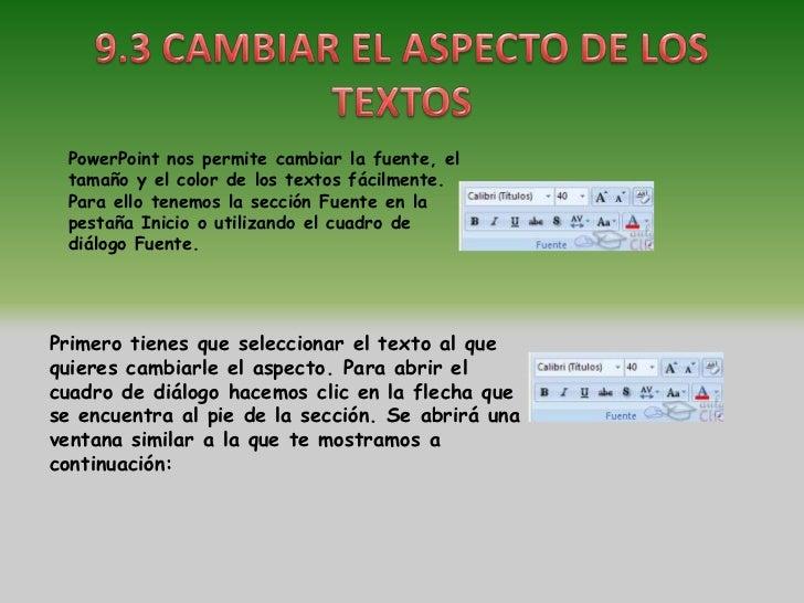 En la sección Fuente para texto latino: selecciona de la lista el tipo de letra quequieras aplicar. También lo puedes hace...