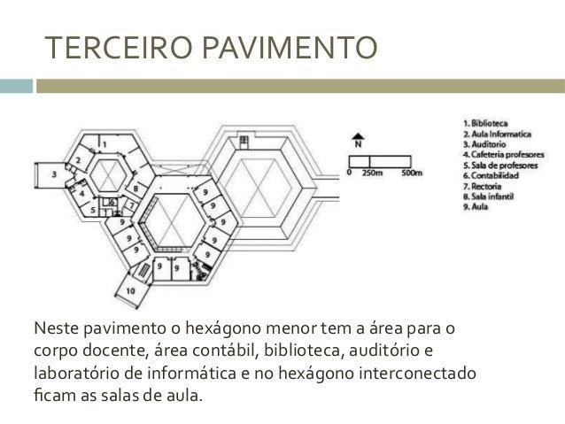 TERCEIRO  PAVIMENTO   Neste  pavimento  o  hexágono  menor  tem  a  área  para  o   corpo  docen...