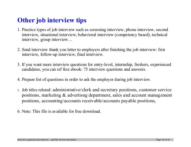 ... Interview Questions And Answers U2013 Pdf File For Free Download Page 9 Of  10; 10.