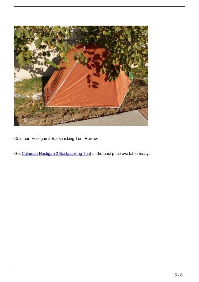 Coleman Hooligan 2 Backpacking Tent ...  sc 1 st  SlideShare & coleman-hooligan-2-backpacking-tent-review-5-638.jpg?cbu003d1357971951
