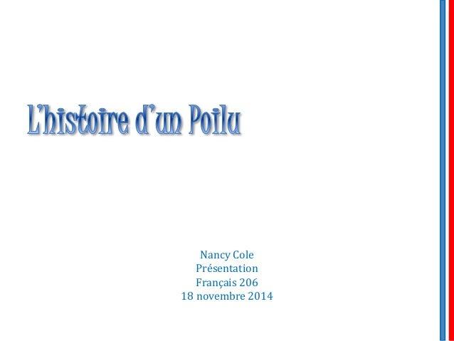 Nancy Cole Présentation Français 206 18 novembre 2014