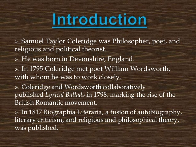 write a short note on biographia literaria