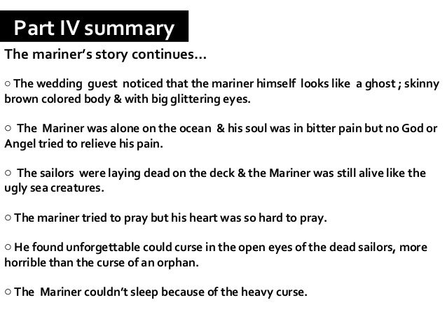 a summary of the rime of the ancient mariner by samuel coleridge The rime of the ancient mariner is the longest major poem by the english poet samuel taylor coleridge, written in 1797-98 and published in the first.