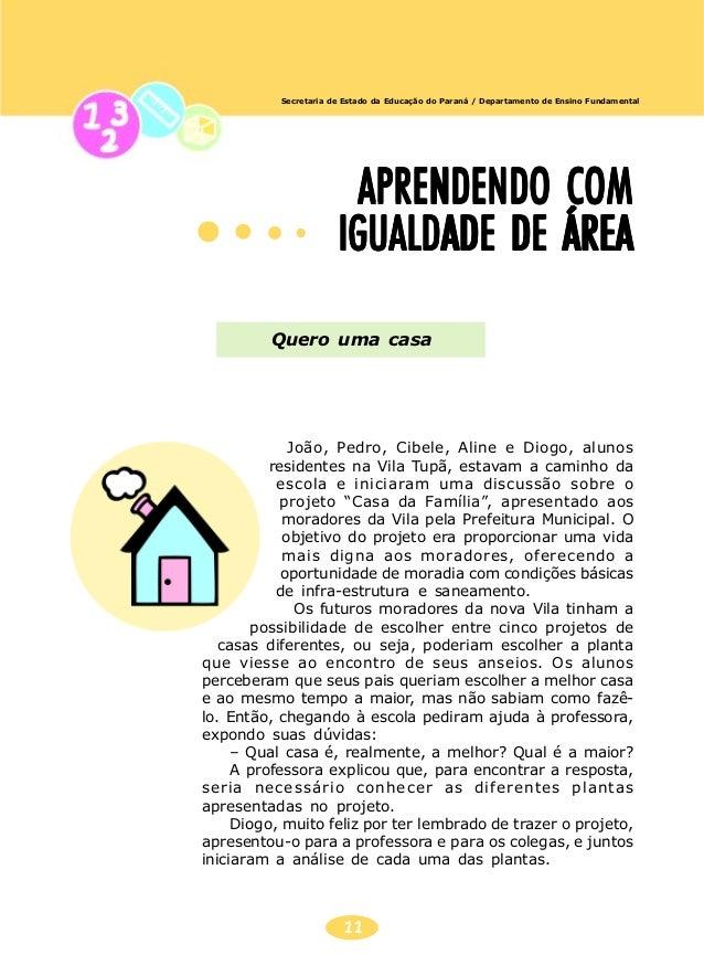 12 Secretaria de Estado da Educação do Paraná / Departamento de Ensino Fundamental NÚMEROSNÚMEROSNÚMEROSNÚMEROSNÚMEROS PAR...