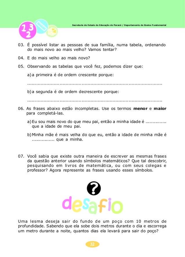 33 Secretaria de Estado da Educação do Paraná / Departamento de Ensino Fundamental ANIVERSÁRIO DO TIAGOANIVERSÁRIO DO TIAG...