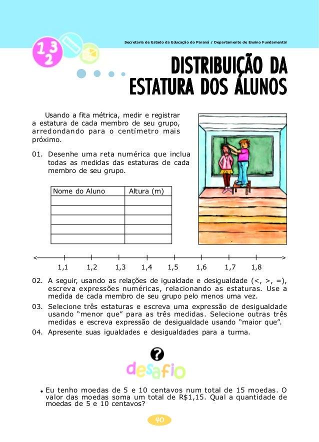Secretaria de Estado da Educação do Paraná / Departamento de Ensino Fundamental 41 JOGO DOJOGO DOJOGO DOJOGO DOJOGO DO NUN...