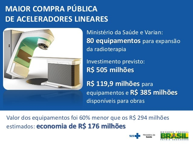 Brasil terá primeira fábrica de equipamentos para radioterapia da América Latina Slide 3