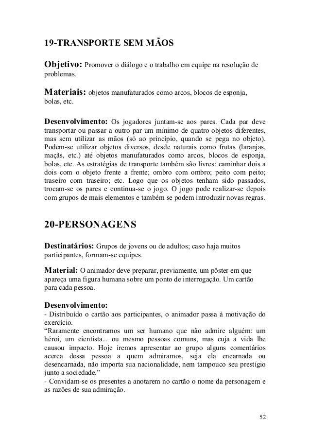 Coletânea De Dinâmicas De Grupo E Textos Reflexivos Soe