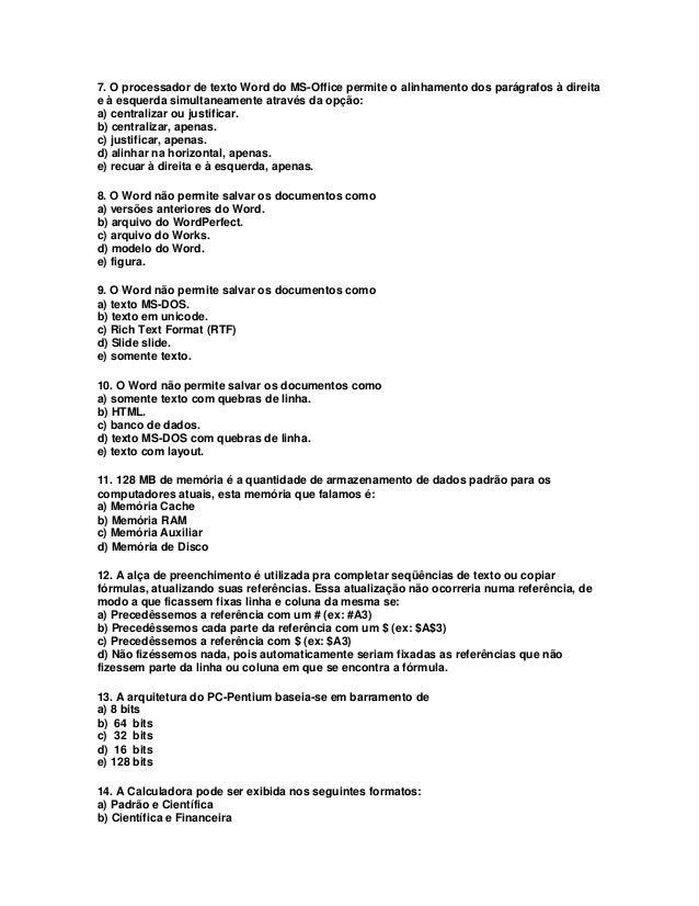 Coletânea de exercícios informatica Slide 2