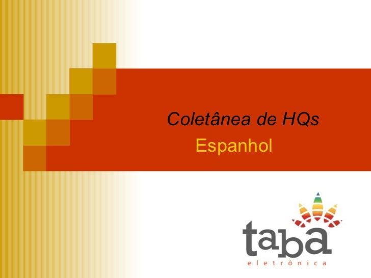 Coletânea de HQs Espanhol