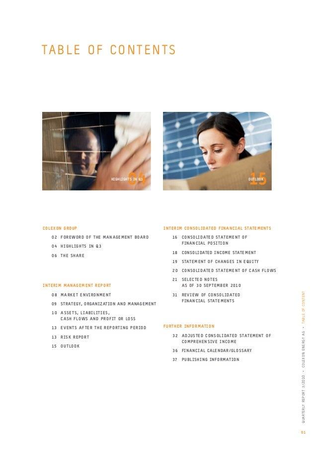 Quarterly Report 3/2010 Slide 3