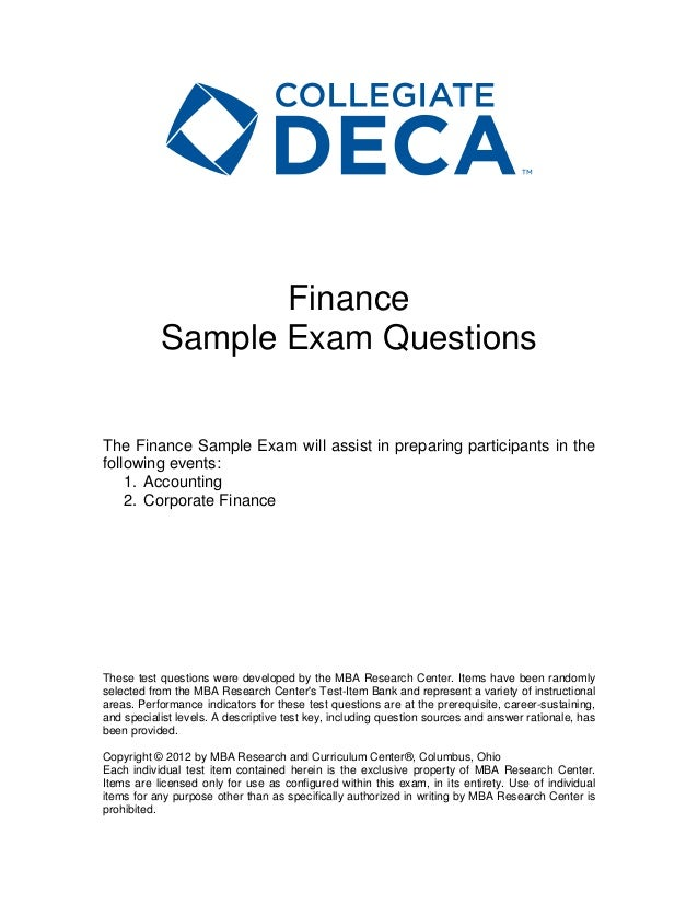 Col finance sample_exam